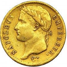 France Gold 20 Franc Napoleon Coin 1806-1815 (Average Circulated)