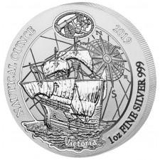 2019 Rwanda 1 oz Silver Nautical Ounce Victoria (BU)