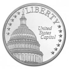 The U.S. Capitol 1 Oz Silver Round: Landmarks of Washington Series
