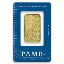 1 Oz PAMP Suisse Gold Bar (In Assay) Front
