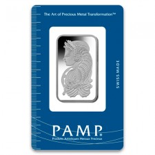 1 Ounce / Oz PAMP Suisse Platinum Bar (New w/Assay)