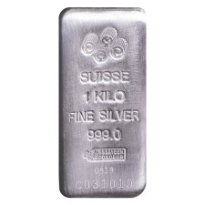 PAMP Suisse Kilo (32.15 Oz) Cast Silver Bar (New w/Assay)