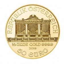 2019 Austria 1/2 Oz Gold Philharmonic (BU)