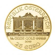 2019 Austria 1/4 Oz Gold Philharmonic (BU)