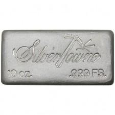 SilverTowne Poured | 10 Oz Silver Bar
