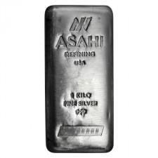 Asahi 1 Kilo Silver Bar Front
