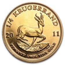 1/4 oz South Africa Gold Krugerrand Reverse