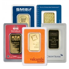 1 Oz Gold Bar - Brand Name of Our Choice (In Assay Card)