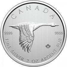 2020 Canada 2 Oz Piedfort Silver Goose