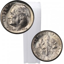 Tube of 90% Silver Roosevelt Dimes Brilliant Uncirculated (BU) - $5 Face Value