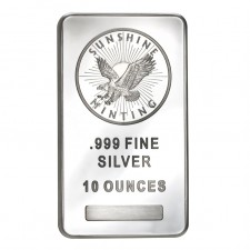 Sunshine Minting (SMI) 10 Oz Silver Bar