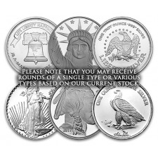 1 Oz .999 Silver Round (Secondary Market, Varied Condition, Any Mint)