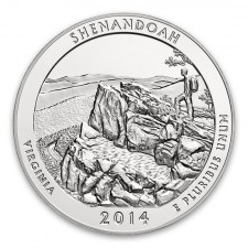 2014-P Shenandoah 5 Oz American Silver ATB (w/Box & COA)