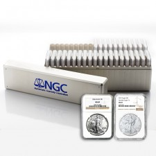 1986-2021 American Silver Eagle 36-Coin Set NGC MS69