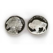 Sunshine Minting (SMI) 1 Oz Buffalo Silver Round
