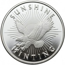 Sunshine Minting (SMI) 1 Oz Silver Round