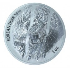 2019 South Korea 1 Oz Silver Tiger (BU)