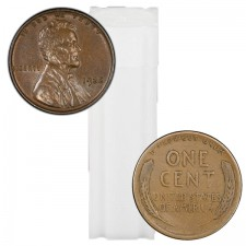 1930-1939 Lincoln Wheat Cent 50-Coin Roll Avg Circ