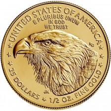 2021 1/2 Oz American Gold Eagle Type 2 (BU)