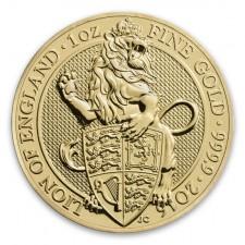 2016 UK 1 Oz Gold Lion (Queen's Beasts Series)