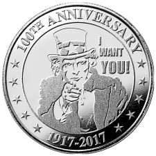 Highland Mint (HM) 1 Oz Uncle Sam Silver Round