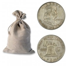 "Bag of 90% ""Junk"" Silver Franklin Half Dollars - $100 Face Value"