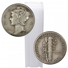 Roll/Tube of 90% Silver Mercury Dimes - $5 Face Value