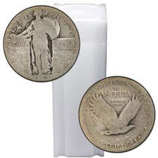 Tube of 90% Silver Standing Liberty Quarters - $10 Face Value