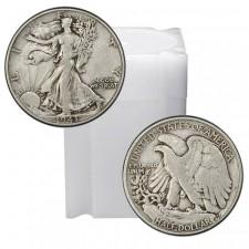 Tube of 90% Silver Walking Liberty Half Dollars - $10 Face Value