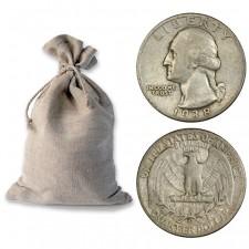 Bag of 90% Silver Washington Quarters - $100 Face Value