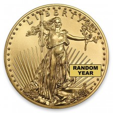 American 1/2 Oz Gold Eagle BU (Random Date) Obverse