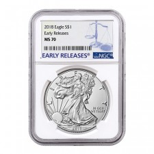 2018 American Silver Eagle NGC MS70 Early Releases