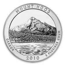 2010 Mount Hood 5 Oz American Silver ATB