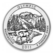 2011 Olympic 5 Oz Silver ATB Coin (BU)