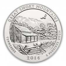 2014 Great Smoky Mountains 5 Oz Silver ATB Coin (BU)