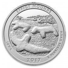 2017 Effigy Mounds 5 Oz Silver ATB Coin