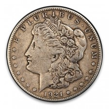 1921 Morgan Silver Dollar VG-XF Obverse