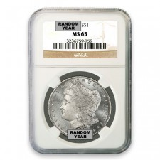 1878-1904 Morgan Silver Dollar Coin NGC MS65 Obverse