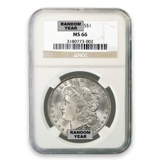 1878-1904 Morgan Silver Dollar NGC MS66 (Random)
