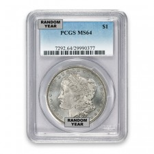 1878-1904 Morgan Silver Dollar Coin PCGS MS64 Obverse