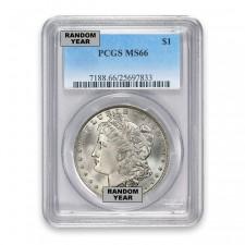 1878-1904 Morgan Silver Dollar PCGS MS66 (Random)