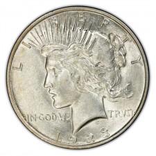 1922-1935 Peace Silver Dollar AU Obverse