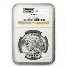 1922-1925 Random Date Silver Peace Dollar NGC MS65 Obverse