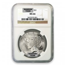 Silver Peace Dollar NGC MS66 (Random)