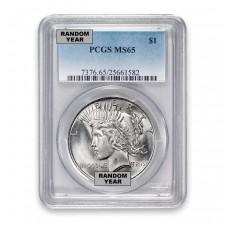 Silver Peace Dollar PCGS MS65 (Random)