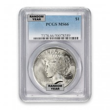 Silver Peace Dollar PCGS MS66 (Random)