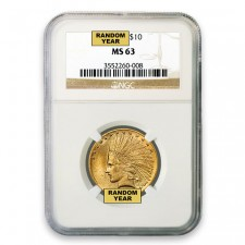 $10 Indian Gold Eagle NGC MS63 (Random)