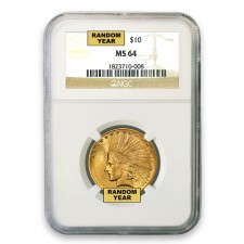 $10 Indian Gold Eagle NGC MS64 (Random)
