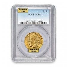 $10 Indian Gold Eagle PCGS MS61 (Random)