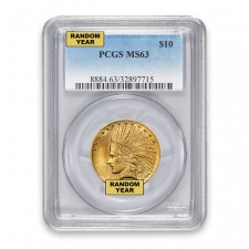 $10 Indian Gold Eagle PCGS MS63 (Random)